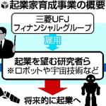 三菱UFJが若手研究者の起業支援開始に多くの批判の声